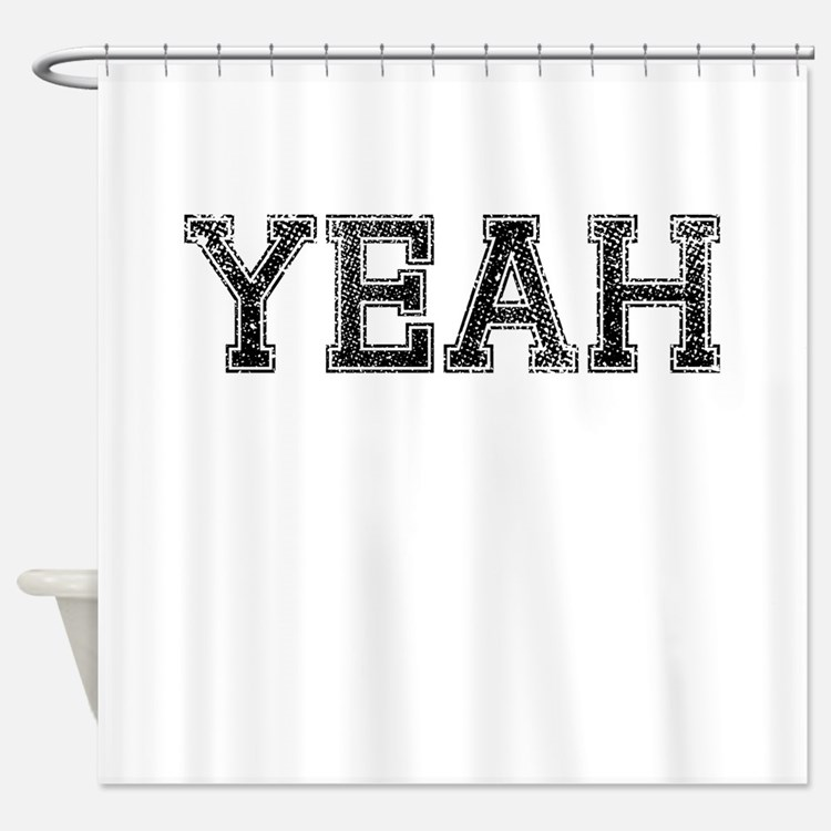 YEAH, Vintage Shower Curtain
