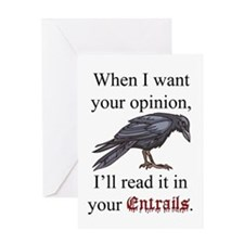 Entrails and Opinions Greeting Card