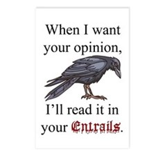 Entrails and Opinions Postcards (Package of 8)