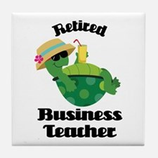 Retired Business Teacher Gift Tile Coaster