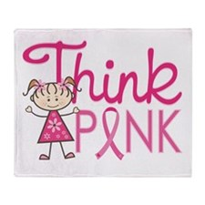 Think Pink Throw Blanket