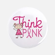 "Think Pink 3.5"" Button (100 pack)"