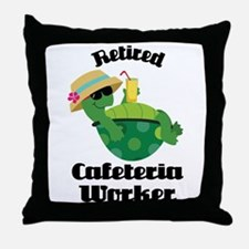 Retired Cafeteria Worker Gift Throw Pillow