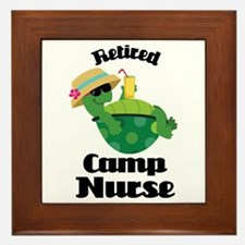 Retired Camp Nurse Gift Framed Tile