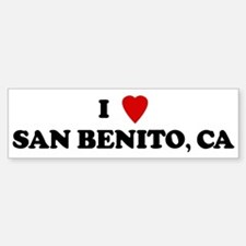 I Love SAN BENITO Bumper Bumper Bumper Sticker