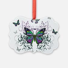 MultiColored Butterflies Ornament