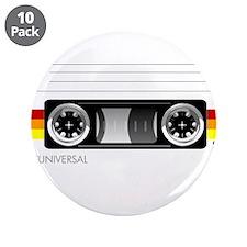 "Cassette tape label 2 3.5"" Button (10 pack)"
