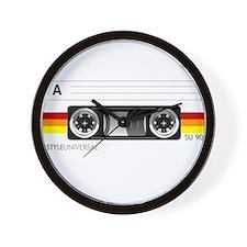 Cassette tape label 2 Wall Clock