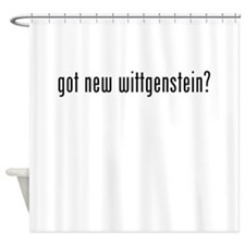 Got New Wittgenstein? Shower Curtain