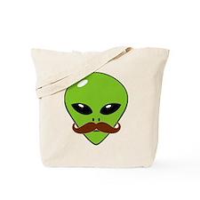 Alien Moustache Tote Bag