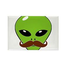 Alien Moustache Rectangle Magnet