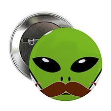 """Alien Moustache 2.25"""" Button"""