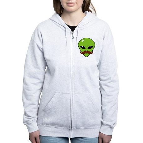 Alien Moustache Women's Zip Hoodie