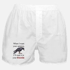 Entrails on Wht Boxer Shorts