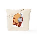 Lenin wearing heaphones Tote Bag