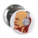 Lenin wearing heaphones Button