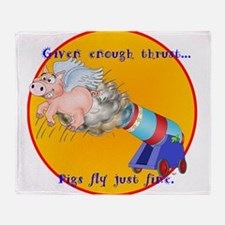FLYING PIGGY Throw Blanket