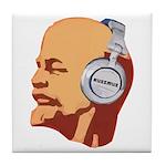 Lenin wearing heaphones Tile Coaster