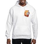 Lenin wearing heaphones Hooded Sweatshirt