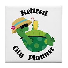 Retired City Planner Gift Tile Coaster