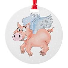 flying Pig 2 Ornament