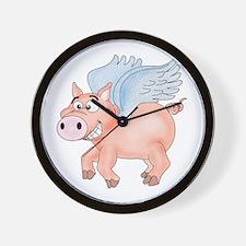 flying Pig 2 Wall Clock
