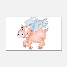 flying Pig 2 Car Magnet 20 x 12