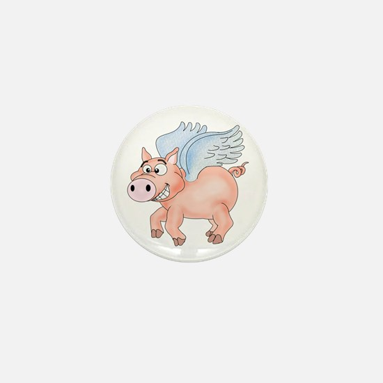 flying Pig 2 Mini Button