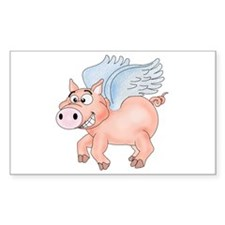 flying Pig 2 Decal