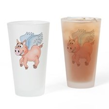 flying Pig 2 Drinking Glass