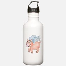 flying Pig 2 Water Bottle