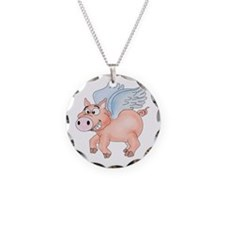 flying Pig 2 Necklace