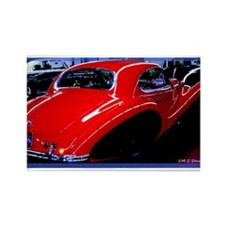 Vintage, Red Car, Rectangle Magnet