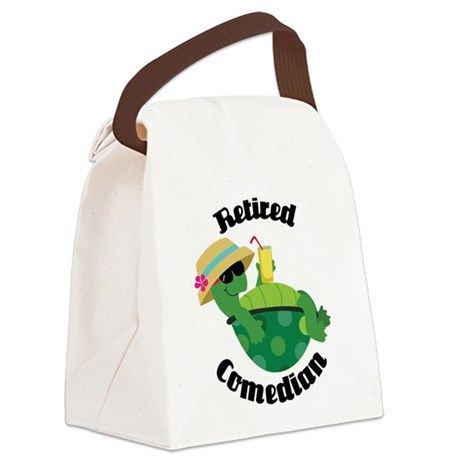 Retired Comedian Gift Canvas Lunch Bag