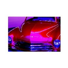 Bright, Red, Classic car, Rectangle Magnet