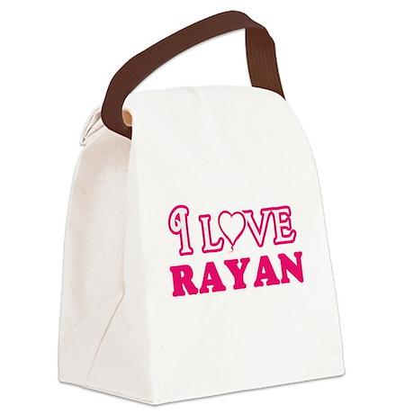 I Love Rayan Canvas Lunch Bag