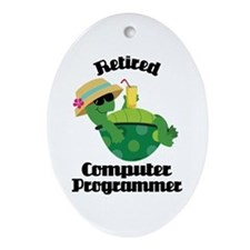 Retired Computer Programmer Ornament (Oval)