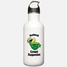 Retired Court Reporter Gift Water Bottle