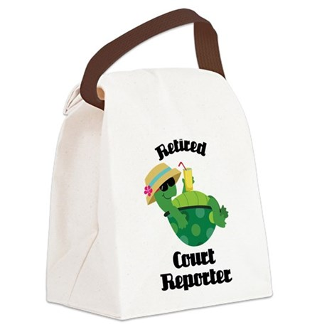 Retired Court Reporter Gift Canvas Lunch Bag
