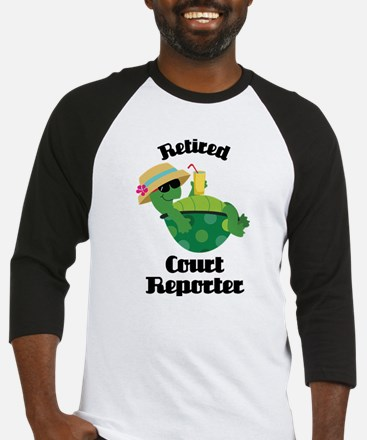 Retired Court Reporter Gift Baseball Jersey