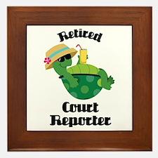 Retired Court Reporter Gift Framed Tile