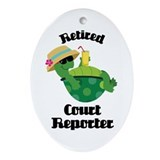 Retired court reporter Oval Ornaments