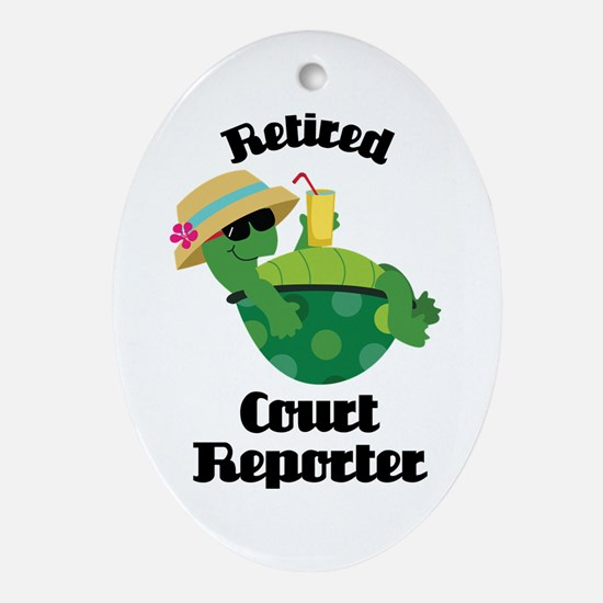 Retired Court Reporter Gift Ornament (Oval)