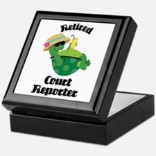 Retired Court Reporter Gift Keepsake Box
