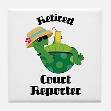 Retired Court Reporter Gift Tile Coaster