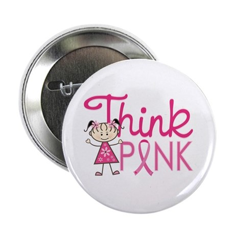 """Think Pink 2.25"""" Button (10 pack)"""