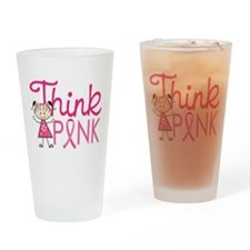 Think Pink Drinking Glass