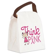 Think Pink Canvas Lunch Bag