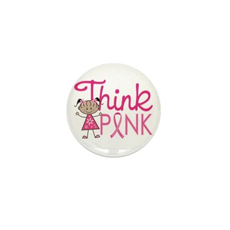 Think Pink Mini Button (10 pack)