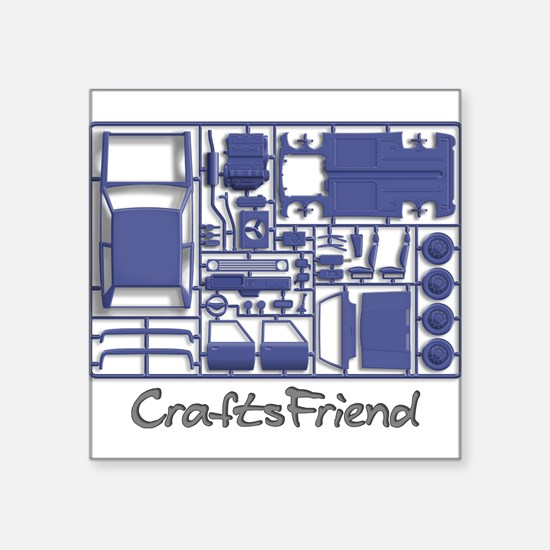 "Craftsfriend - Model Car Kit Square Sticker 3"" x 3"